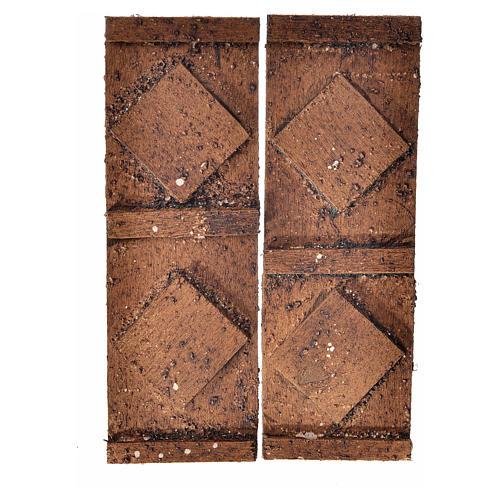 Porta legno 2 ante 12x9 cm presepe 1