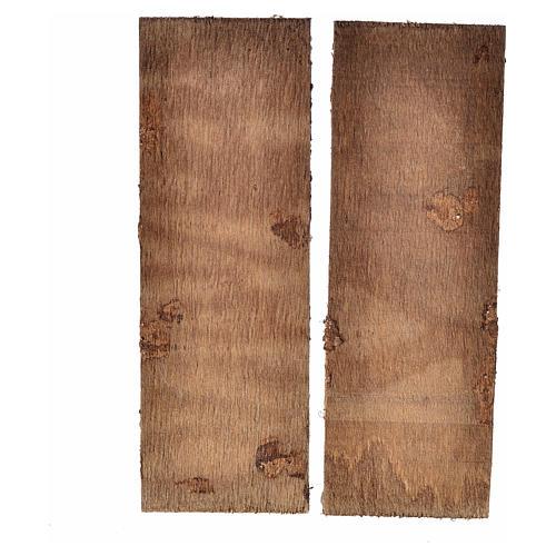 Nativity accessory, double door in wood 12x9cm 2