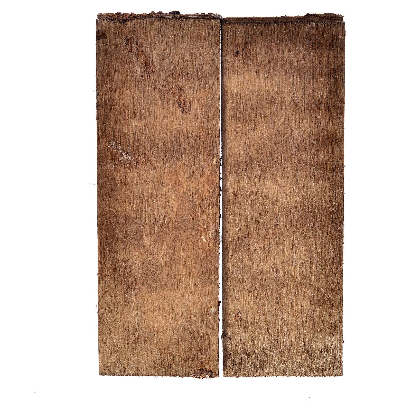 Porta in legno 2 ante 12x9 cm per presepe fai da te 4