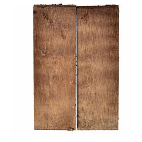 Porta in legno 2 ante 12x9 cm per presepe fai da te s2