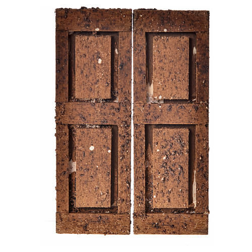 Nativity accessory, double door in wood for do-it-yourself nativ 1