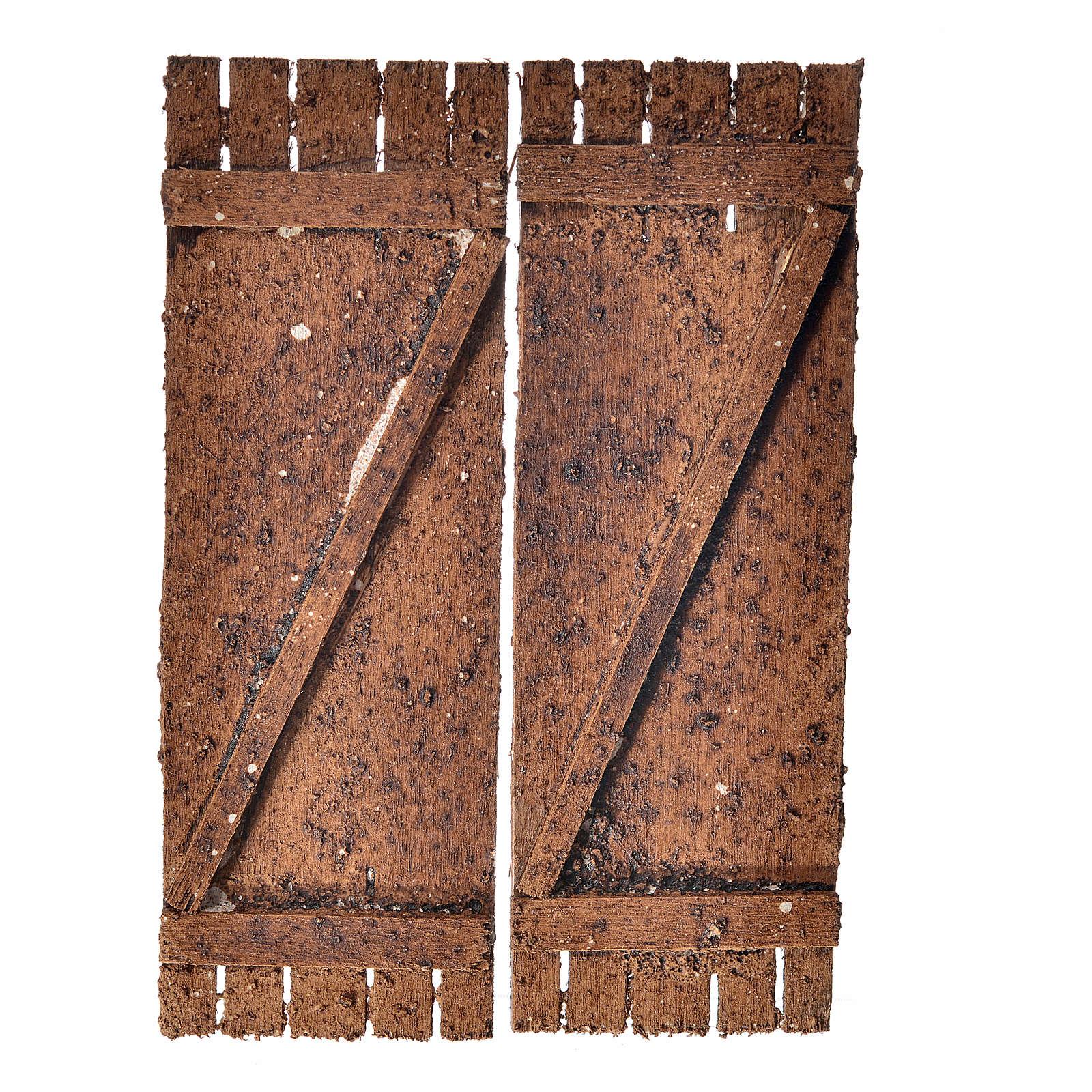 Porta in legno a 2 ante 12x9 cm presepi fai da te 4