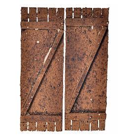 Porta in legno a 2 ante 12x9 cm presepi fai da te s1
