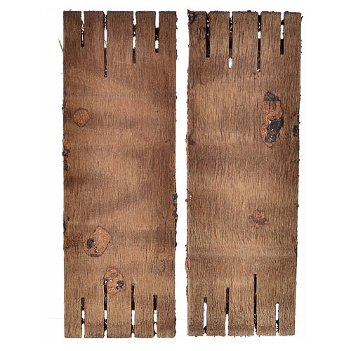 Porta in legno a 2 ante 12x9 cm presepi fai da te 2