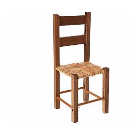 Acessórios de Casa para Presépio: Cadeira de vime presépio napolitano 11x4,5x4,5 cm
