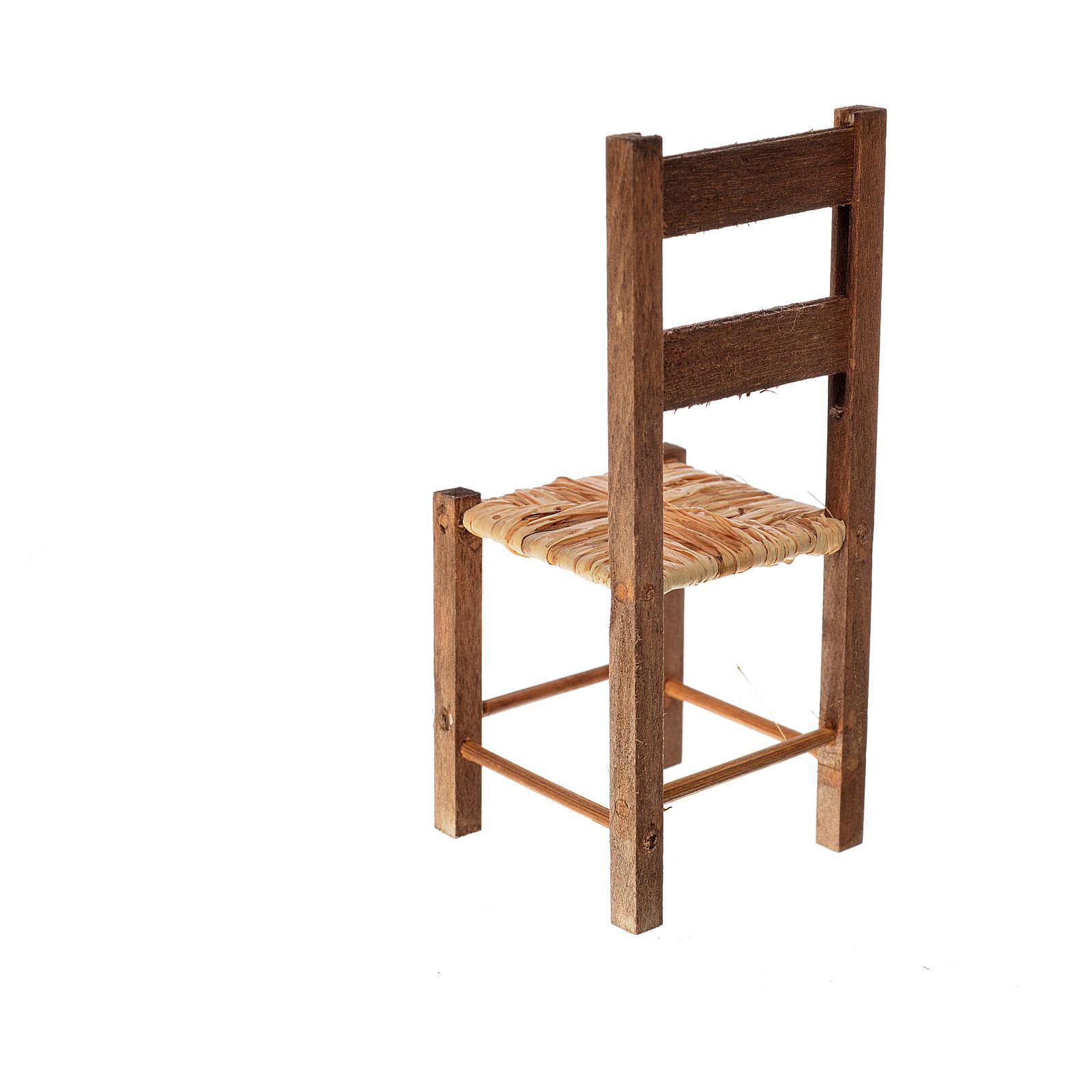 Neapolitan nativity accessory, straw chair 11x4.5x4.5cm 4