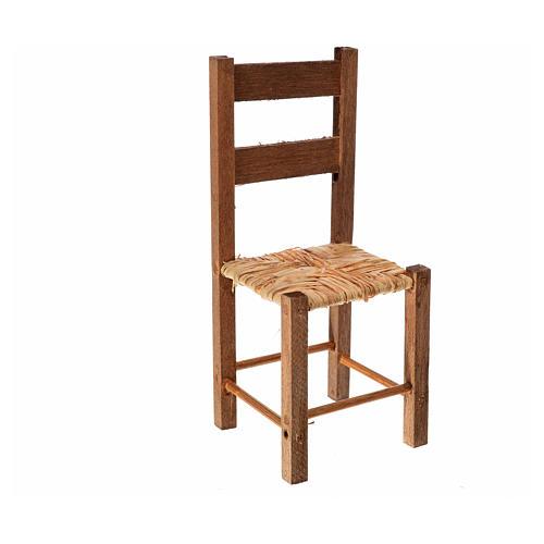 Neapolitan nativity accessory, straw chair 11x4.5x4.5cm 1