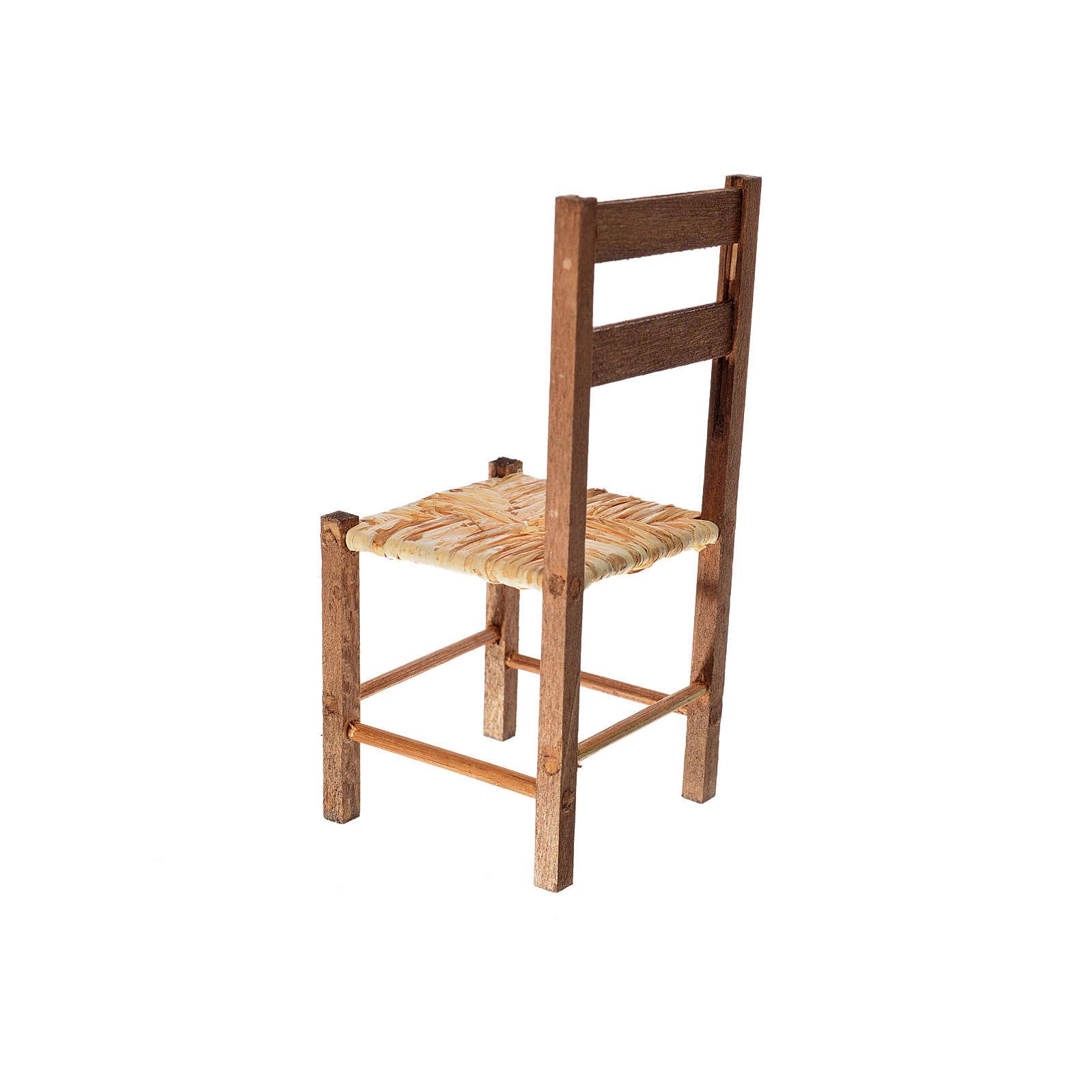 Neapolitan nativity accessory, straw chair 12x6x6cm 4