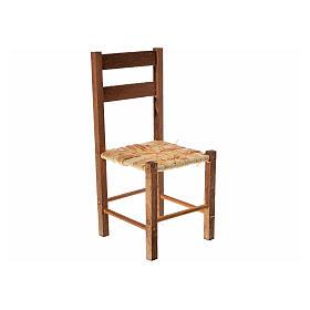 Neapolitan nativity accessory, straw chair 12x6x6cm s1