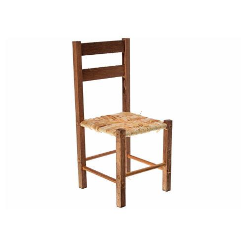 Neapolitan nativity accessory, straw chair 12x6x6cm 1