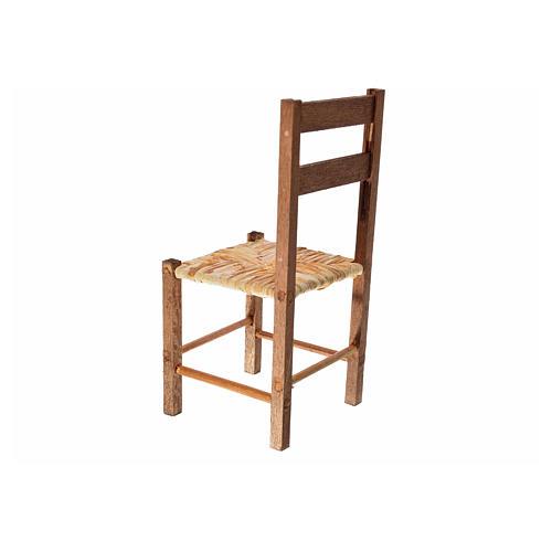 Neapolitan nativity accessory, straw chair 12x6x6cm 2