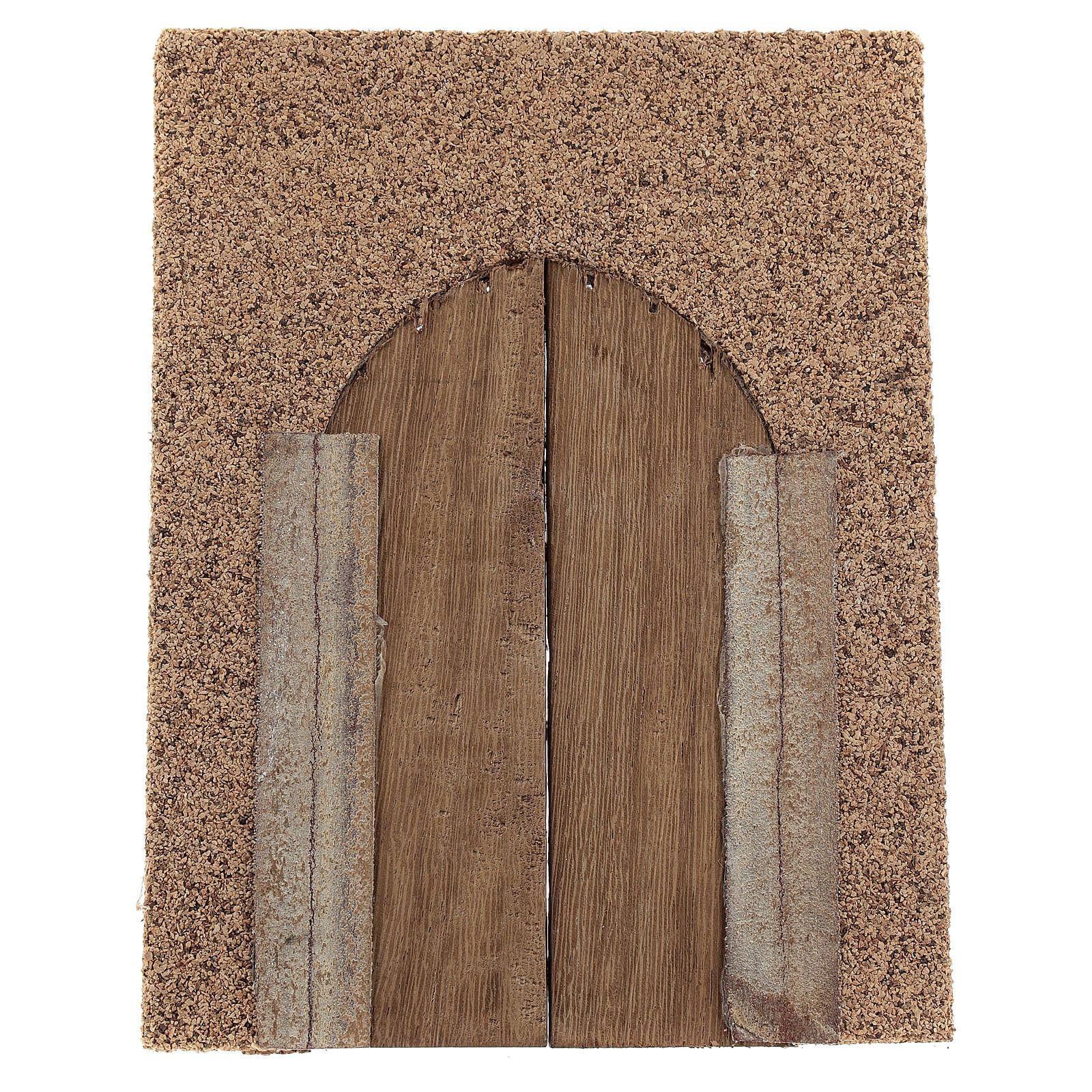 Portón rústico de madera pared corcho 21x15 cm 4