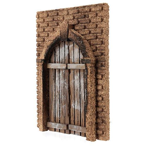 Portón rústico de madera pared corcho 21x15 cm 2