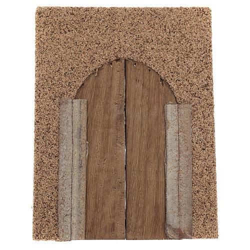 Portón rústico de madera pared corcho 21x15 cm 3