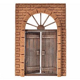Portone rustico in legno parete sughero 21x15 cm s1