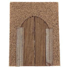 Portone rustico in legno parete sughero 21x15 cm s3