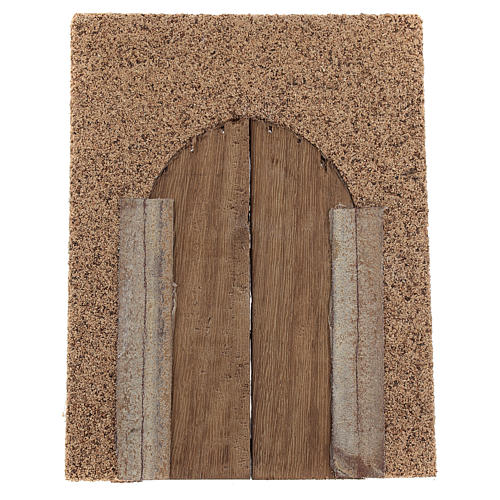 Portone rustico in legno parete sughero 21x15 cm 3