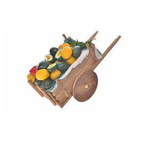 Neapolitan Nativity accessory, melon and watermelon cart in wax s2