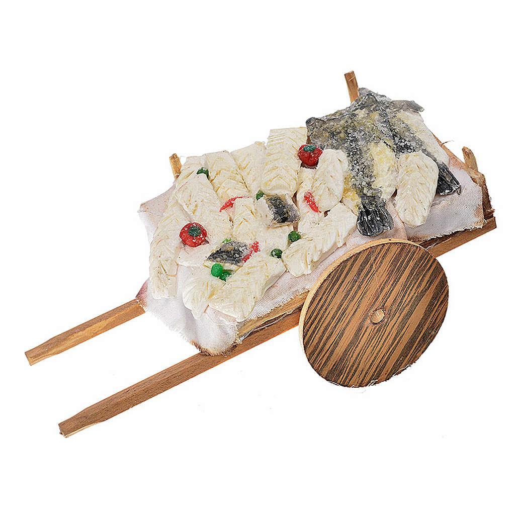 Wóz neapolitański ryby z wosku 10x18.5x7 cm 4