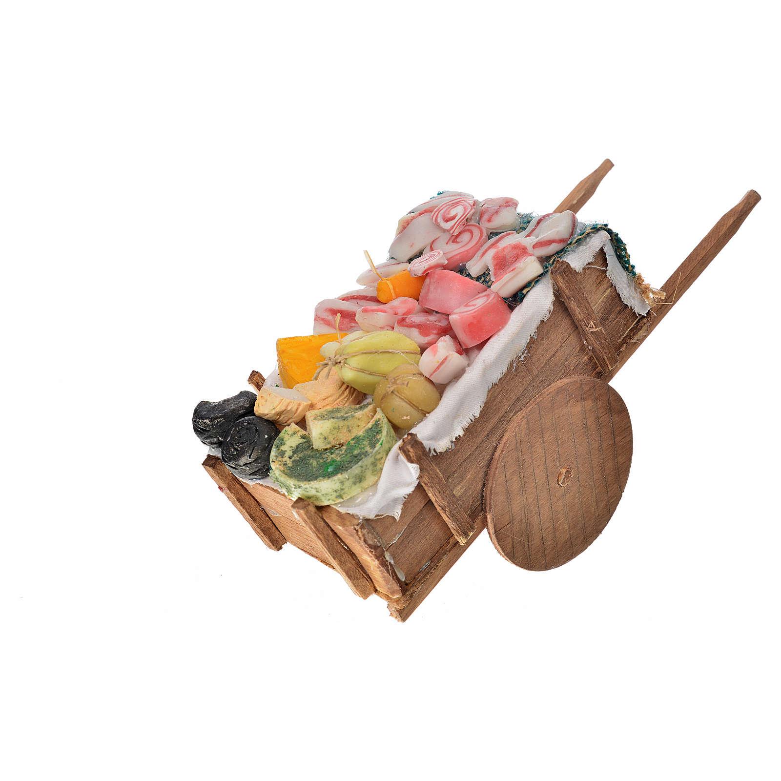 Carro napoletano salumi e formaggi in cera 10x18,5x7 cm 4