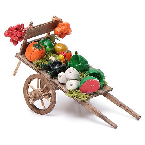 Neapolitan Nativity accessory, fruit and vegetable cart 8x12x7cm 2