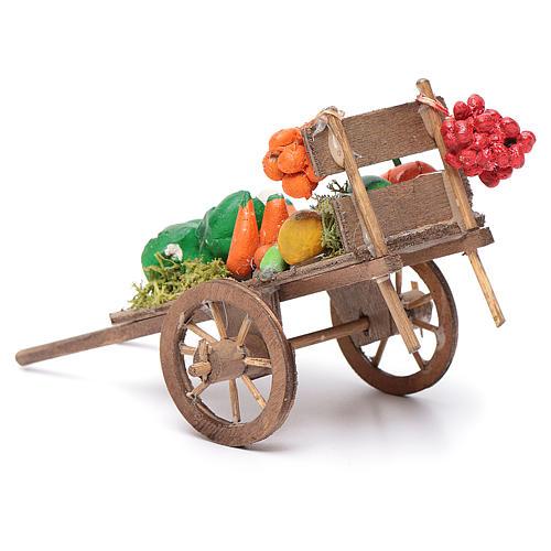 Neapolitan Nativity accessory, fruit and vegetable cart 8x12x7cm 3