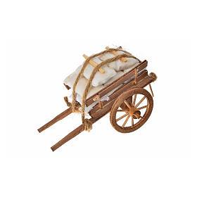 Char avec des sacs crèche napolitaine 8x12x7cm s3