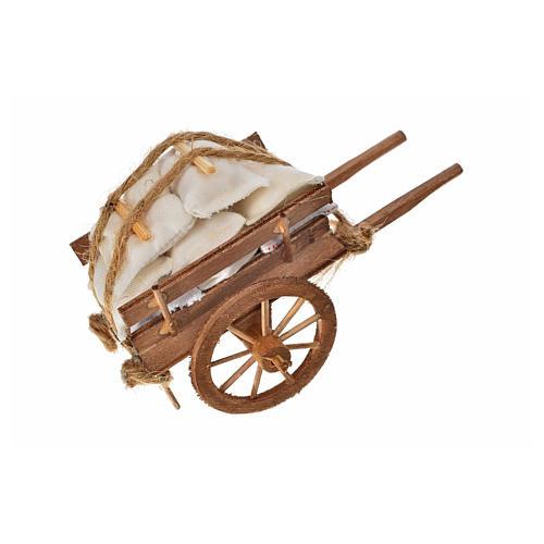 Char avec des sacs crèche napolitaine 8x12x7cm 4