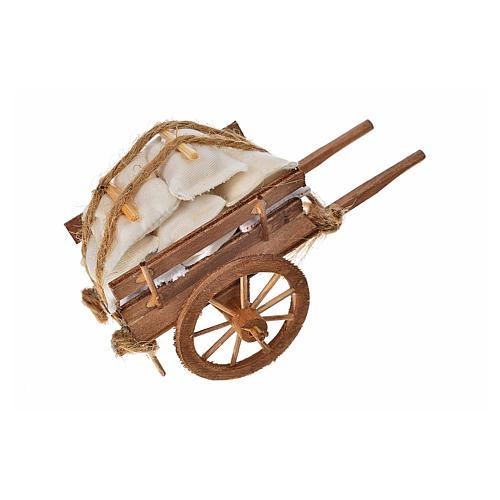 Char avec des sacs crèche napolitaine 8x12x7cm 2