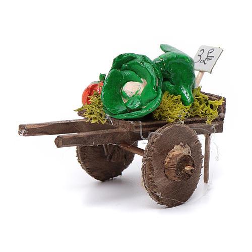 Char fruits et légumes crèche napolitaine 5,5x7,5x5,5cm 1