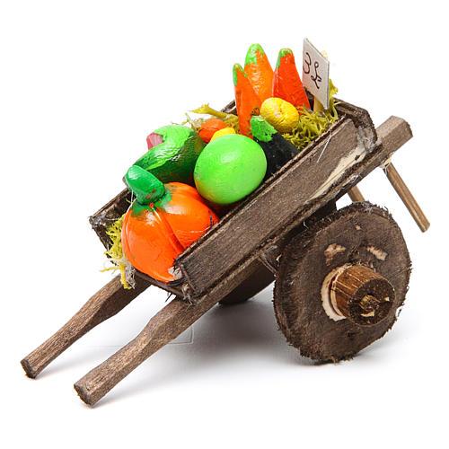 Carro napoletano presepe frutta ortaggi terracotta 5,5x7,5x5,5 c 1