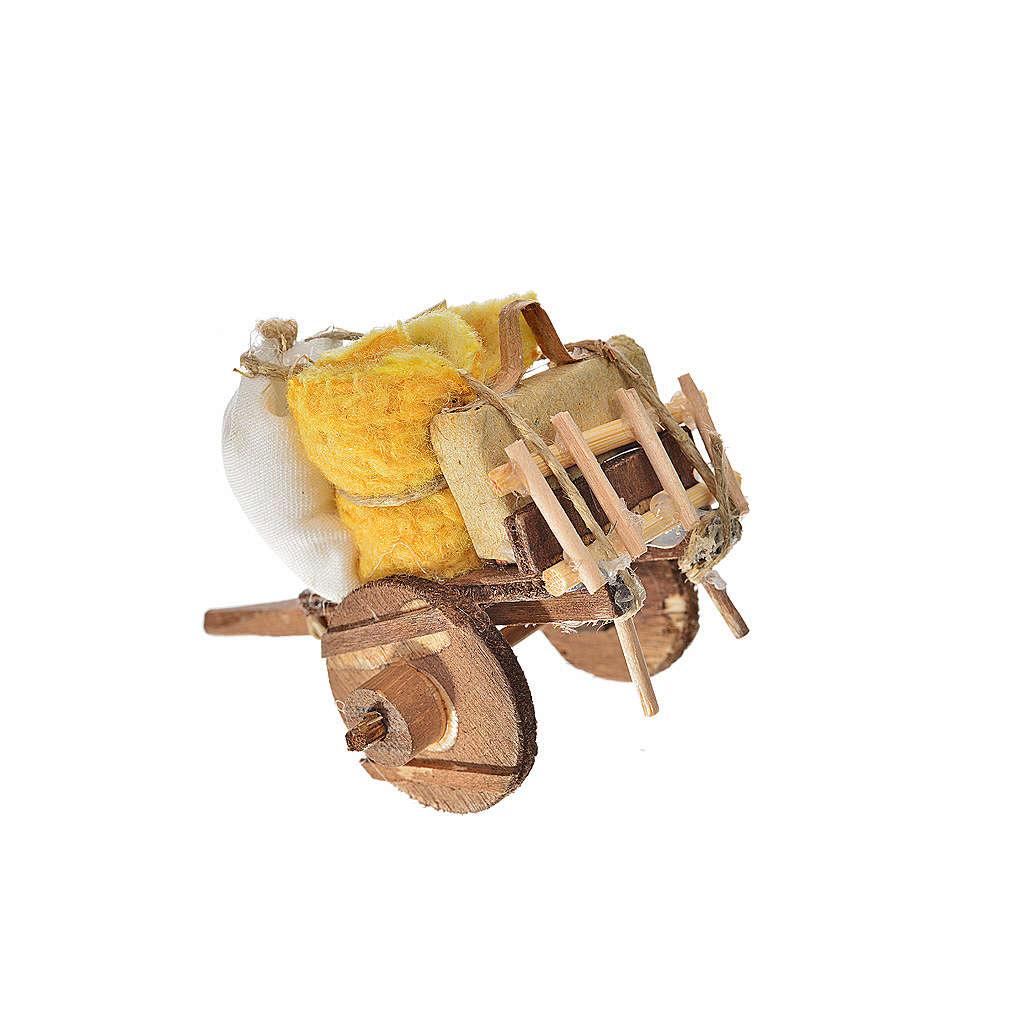 Carro napoletano presepe sfratto 5,5x7,5x5,5 cm 4