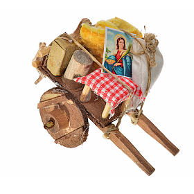 Neapolitan Nativity accessory, evicted cart 5.5x7.5x5.5cm s1