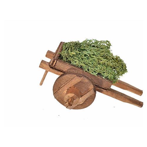 Carro napoletano lichene 5,5x7,5x5,5 cm 2