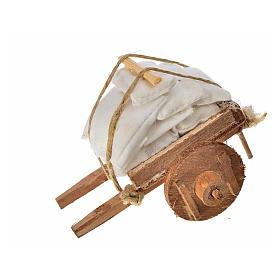 Charrette avec tissus crèche napolitaine 5,5x7,5x5,5cm s3