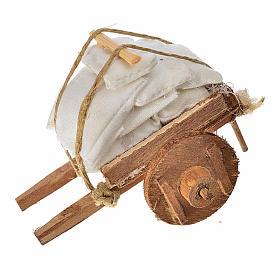 Charrette avec tissus crèche napolitaine 5,5x7,5x5,5cm s1