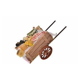 Neapolitan Nativity accessory, ham and cheese cart in wax 5x11x5 s2