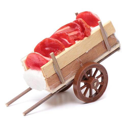 Carro presepe napoletano carne cera 5x11x5 cm 1