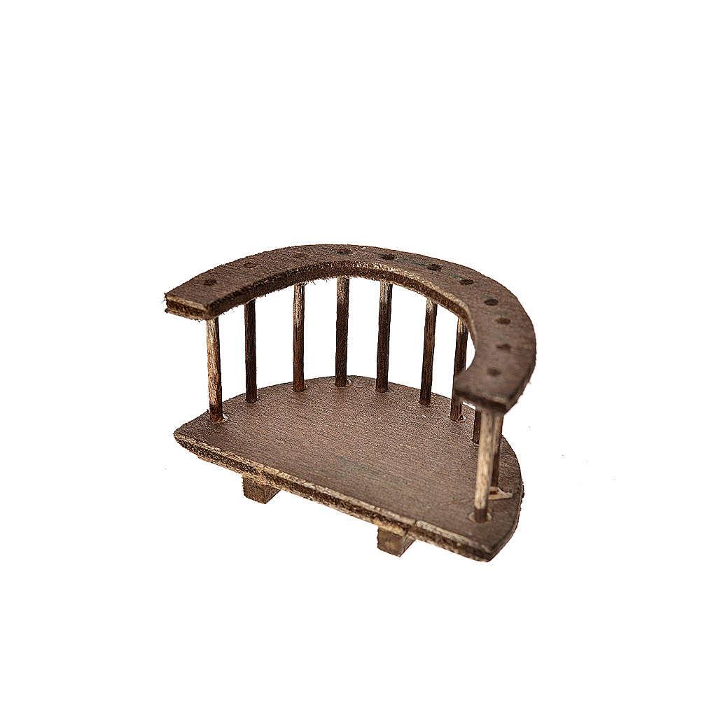 Balcón redondo madera belén 4x7x4 cm 4
