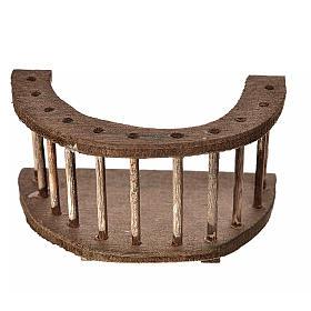 Balcone tondo legno presepe 4x7x4 cm s1