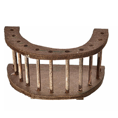 Nativity accessory, round wooden balcony 4x7x4 cm 1