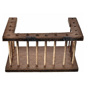 Nativity accessory, wooden balcony 7x3.5x4cm s1
