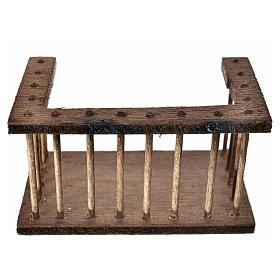 Balcone legno presepe7x3,5x4 cm s1