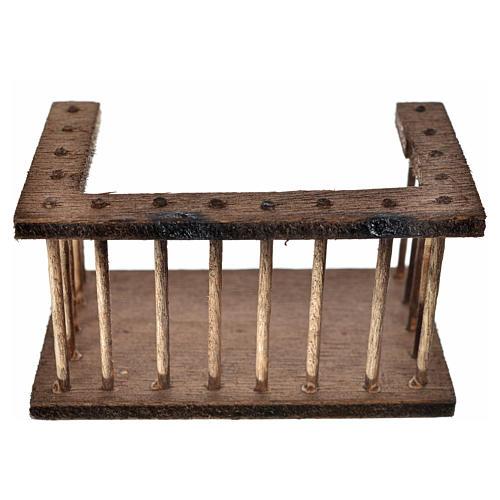 Balcone legno presepe7x3,5x4 cm 1