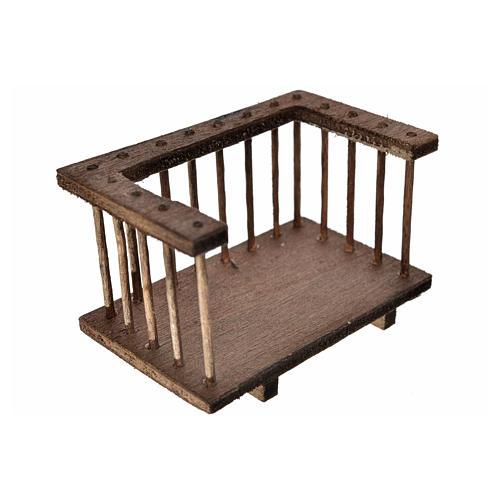 Nativity accessory, wooden balcony 7x3.5x4cm 2