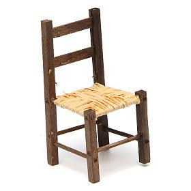 Acessórios de Casa para Presépio: Cadeira em vime e madeira presépio 9,5x4x4 cm