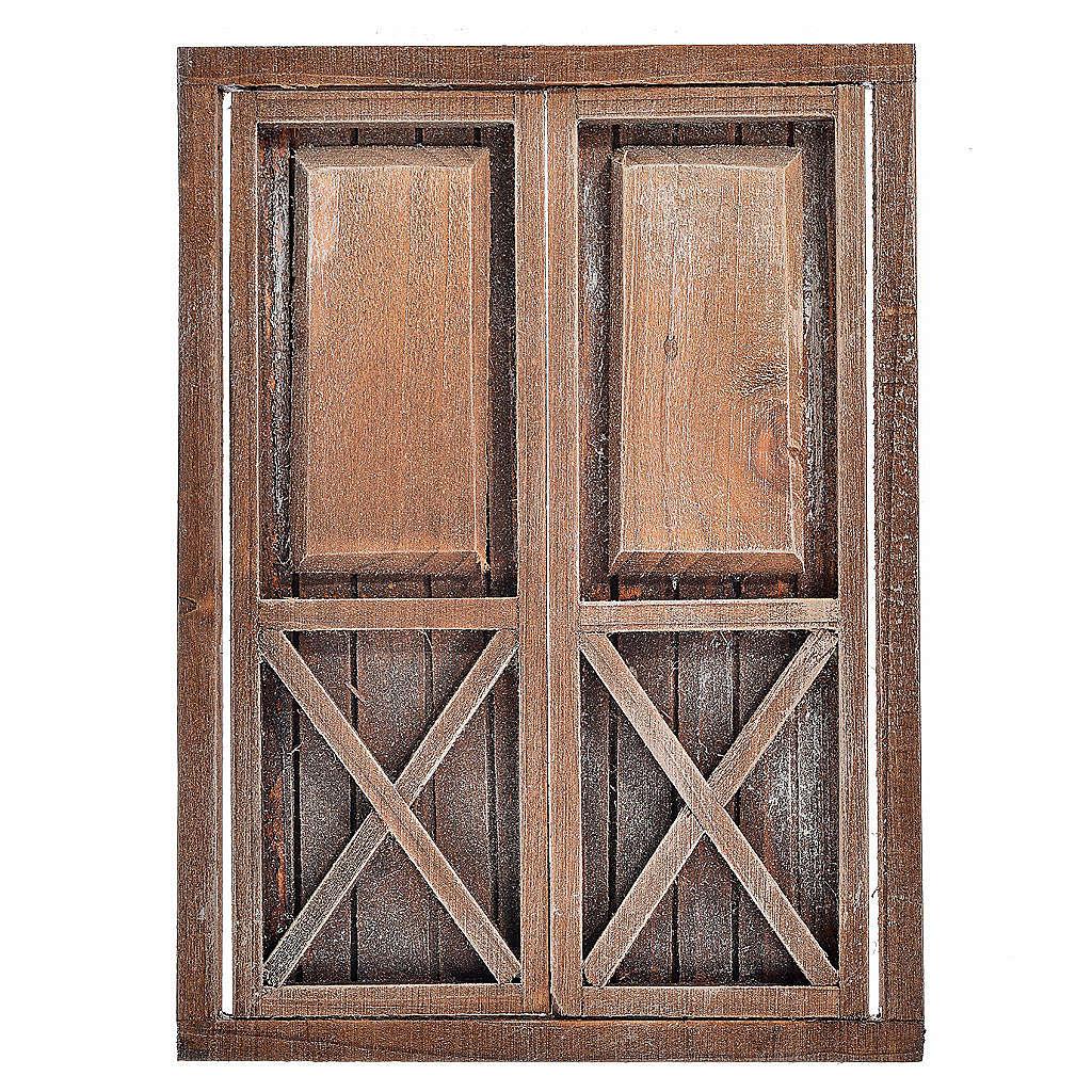 Portone 2 ante legno 17,5x12,5 cm 4