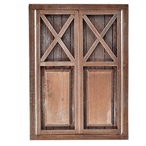 Portone 2 ante legno 17,5x12,5 cm 3