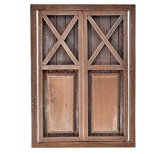 Nativity accessory, wooden double door, 17.5x12.5cm 3