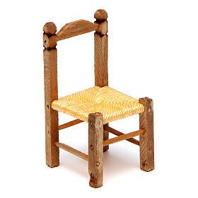 Acessórios de Casa para Presépio: Cadeira de vime presépio 5x2,5x2,5 cm